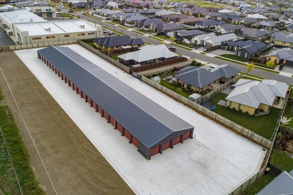 Swipe card protected large storage units available in Rangiora